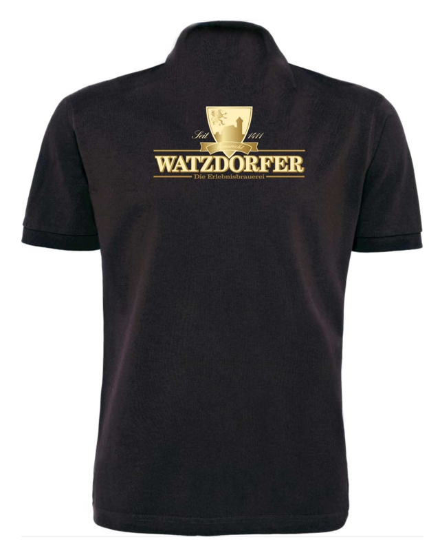 Herren Poloshirt schwarz