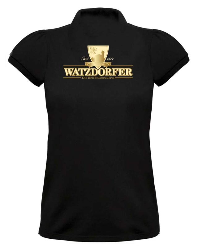 Damen Poloshirt schwarz