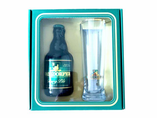 Geschenkset Flasche und Glas